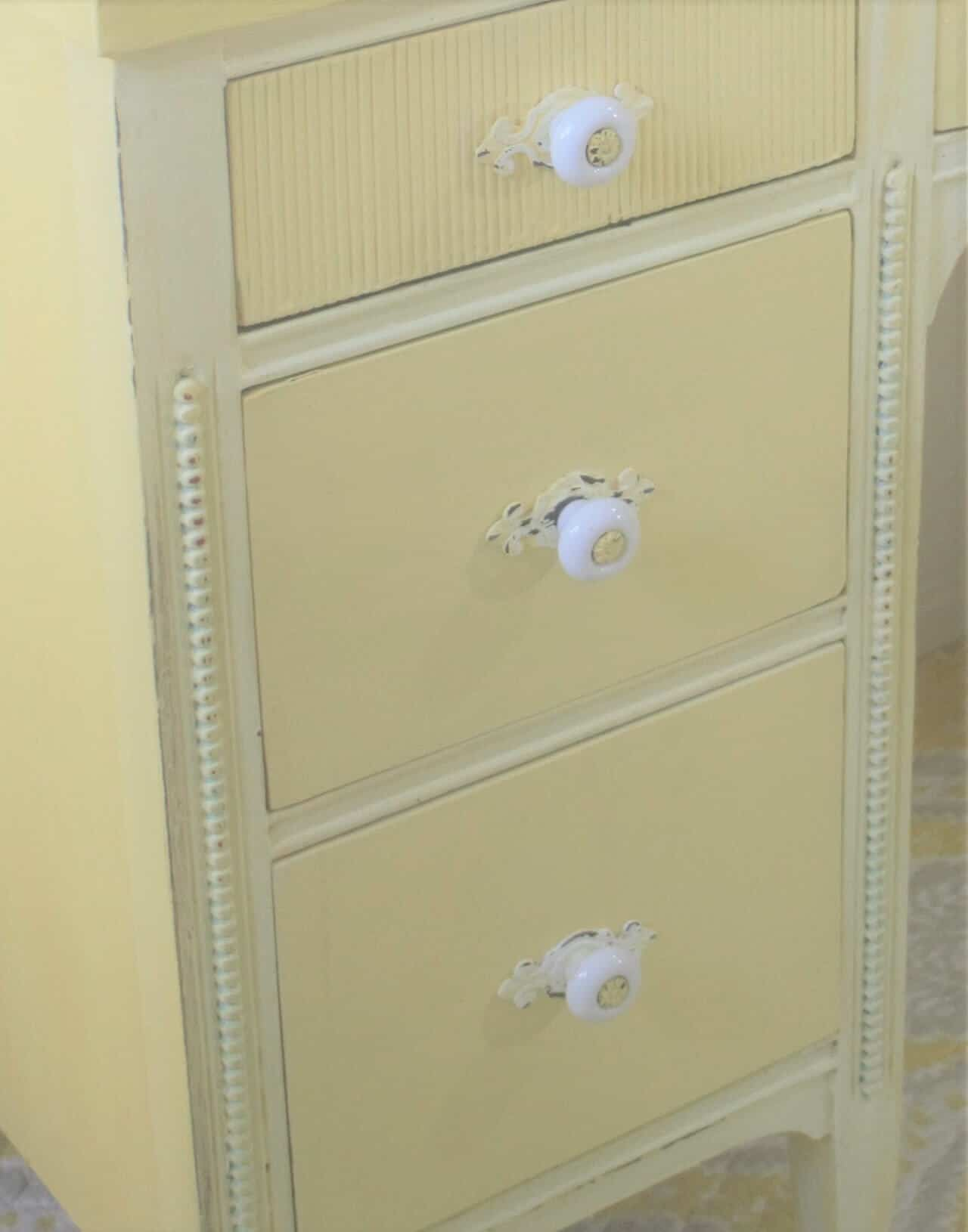 Yellow Desk Hardware Knobs