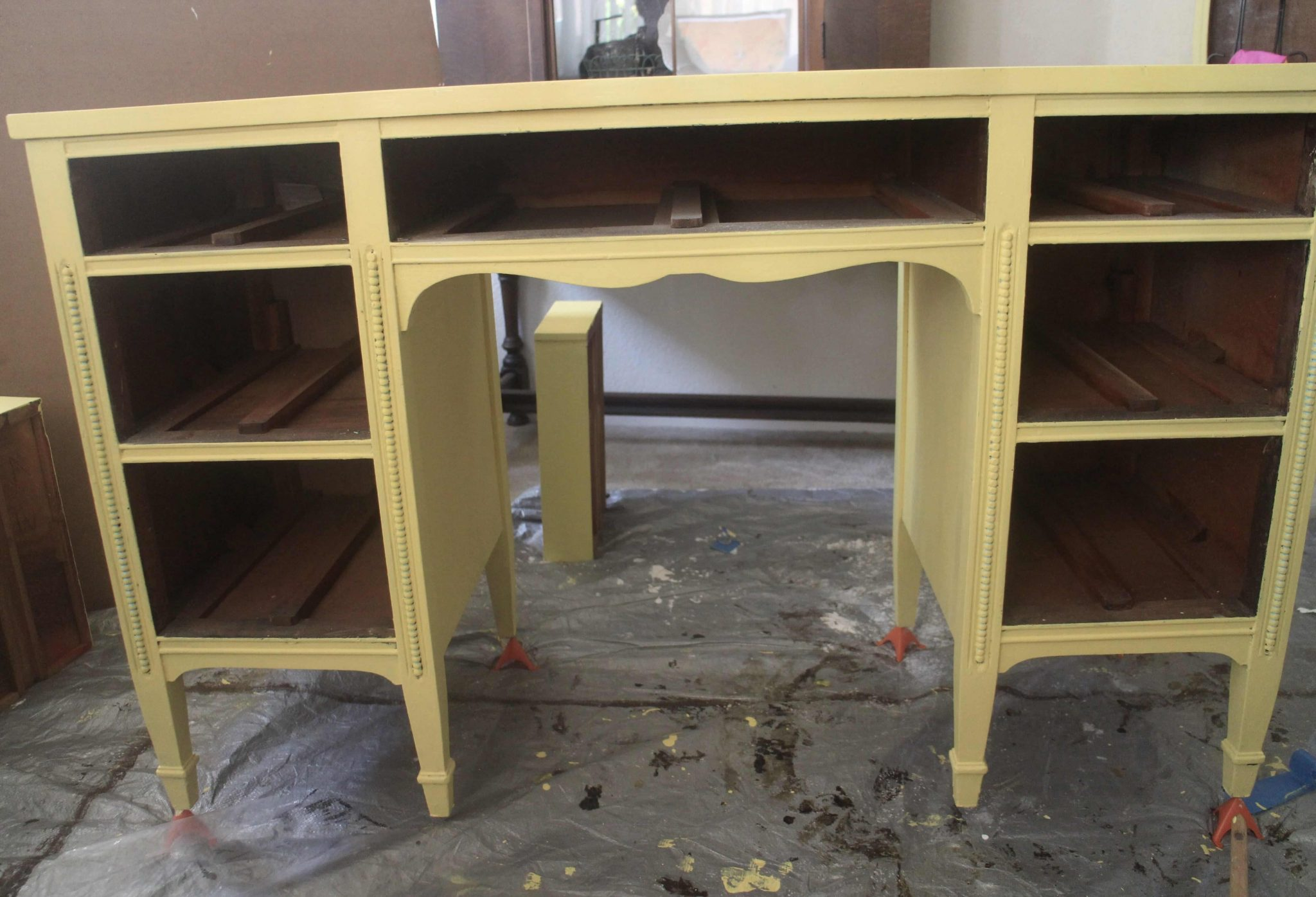 Desk Yellow Painted Desk Project