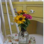 yellow desk makeover