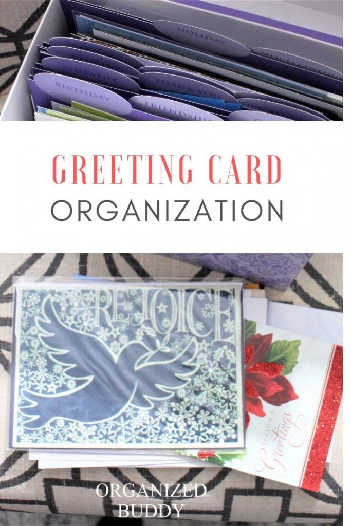 GREETING CARD ORGANIZATION TIPS